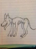 Creepy Dog Sketch by Kenekochan01
