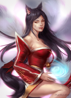 Ahri by pen-thusiast