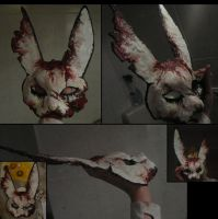 BioShock Spider Splicer Rabbit mask by MWmagic