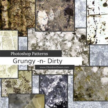 Grungy n Dirty Photoshop Patterns by redheadstock