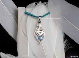 Dragonair pendant with zircon, FACEBOOK GIVEAWAY by seralune