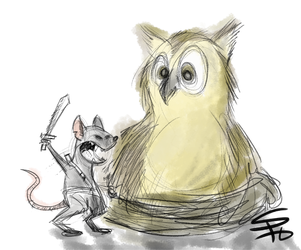 hoot goes there by ScruffyScribbler