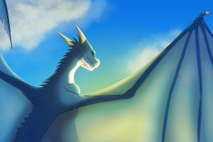 Blue dragon V1 by Garlegas