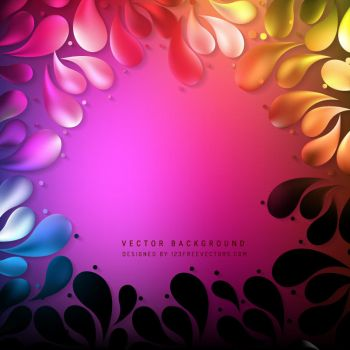 Colorful Arc Drops Background Free Vector by 123freevectors