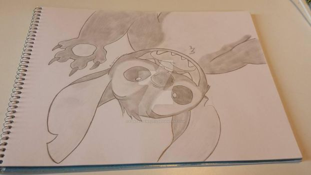 Childhood happened! (Stitch drawing) by FantasyFinale12