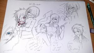 Undertale Sketches- Genocide Route by karinchan97