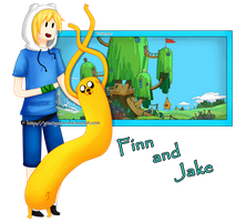 Finn and Jake by M-ar