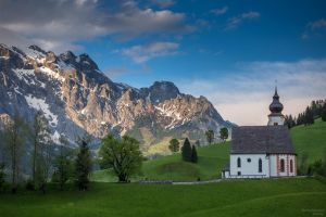 Small chapel in mountains by Sesjusz