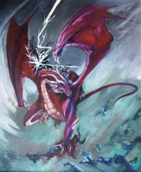 The Storm Dragon Rider. by Graveyard-Keeper