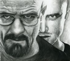 Breaking bad - Mr White and Jesse by shonechacko