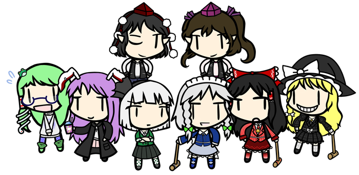 Heathers the Musical but with Touhou Characters by Youkai-Minori