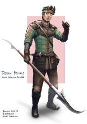 C: Doran Bolvard, Human Champion Fighter by bchart