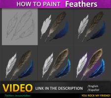 How to paint Feathers tutorial by JesusAConde