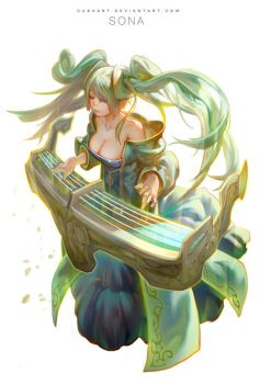 league of legends- Sona by Cushart