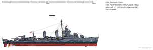 USS Farenholt DD-491 (August 1942) - Ms12 Mod. by ColosseumSB