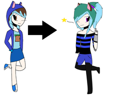 Aphmau oc From Beginning To Now by CharaTheRawrdere