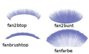 Gimp Fan Brushes by spebele