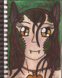 Watercolour Notebook #4: Lilith by Greenpolarbear47