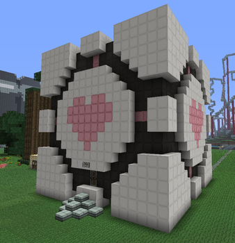 Minecraft:Companion Cube House by KAWAII-PANDA-SAN