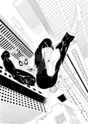Spider Man B and W by Zuperkrypto