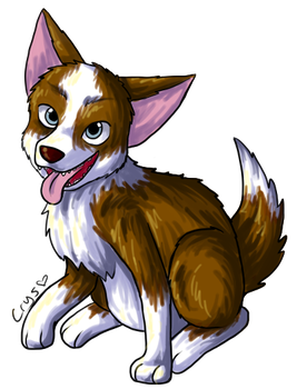 Pengu's Dog by Crysums