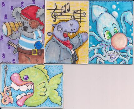 My First ATCs by LimpingGnome