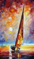 Strong Sun by Leonid Afremov by Leonidafremov