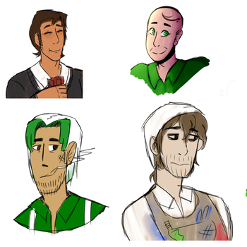 Baldis Basics Adults (ignore broom man :C) by Doxile