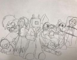 Rough sketches/ WIP by SpeedyCat1234