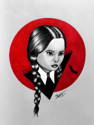 Wednesday Addams by GeorgeXVII