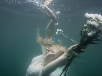 Ophelia Underwater stock by Miss-REdreaming
