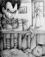 Vegeta Sees his Son by Vegetasotherwife