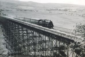 1955 Blackpool-Darlington Train on Belah Viaduct by rlkitterman