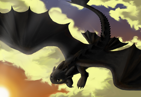 Toothless by SaucyCracker