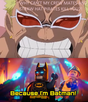 Doflamingo Can't Beat Batman by funnytime77
