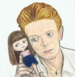 David Bowie with a Blythe by gagambo