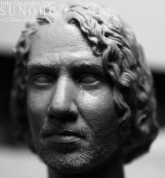 sayid 4 from lost head sculpt by sunohc