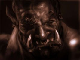 Warcraft orc painting study by Gman20999