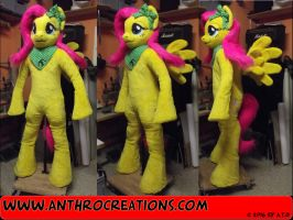 MLP Pony Fluttershy Fursuit Anthrostyle by AtalontheDeer