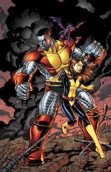 Colossus and Kitty colors by seanforney