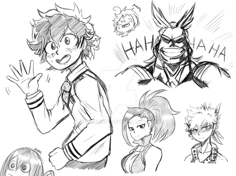 My Hero Academia Doodles~ by Bluechui