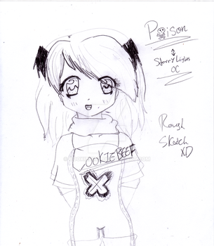 Rough Sketch~Poison~StarryLight's OC by CookieBeef