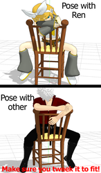 [MMD] Straddle Chair pose by CMN-1979