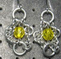 Chainmaille Earring 96 by Des804