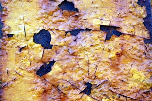 Heat Blistered Paint and Rust by s-i-nthetic-dreams