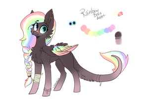 Rainbow Braid Pony Adopt Auction CLOSED by AkiiiChaos