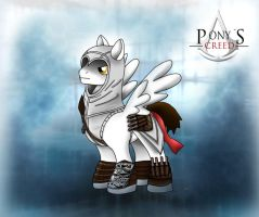 My little pony and assasins creed altair by chaos-dark-lord