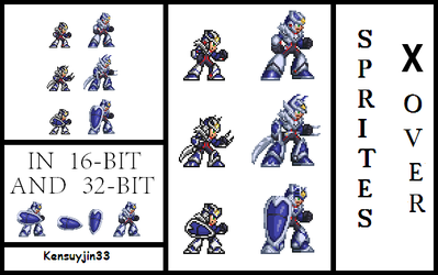 sprites Xover 32bit and 16 bit (preview) by kensuyjin33