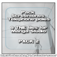 Telephone poles 2 for MS by bakenekogirl
