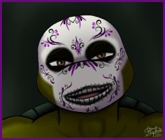 Day of the Dead Donatello by Myrcury-Art